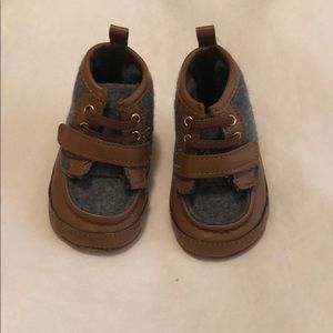 Baby Boy Carters Leather & Wool Boots booties